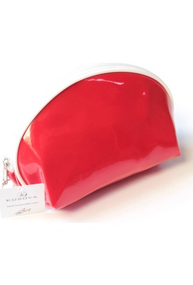 Çeyiz Diyarı Mussel Makyaj Çantası Kırmızı