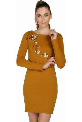 Dm Çiçek Desenli Elbise