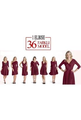 Wildlebend Sheland Tek Elbise 36 Farklı Model - Bordo