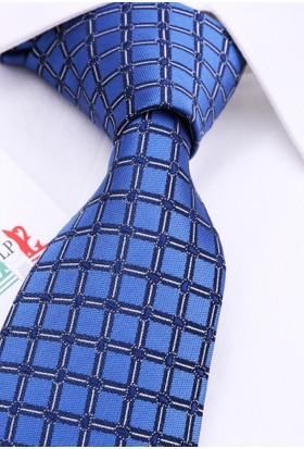La Pescara Mavi Küçük Desen Klasik Kravat Pk3095