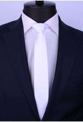 La Pescara Kırık Beyaz Saten Slim Kravat St4002