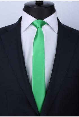 La Pescara Yeşil Saten Slim Kravat St4011