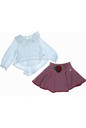 Lilax Kız Çocuk Zigzag Desenli Takım