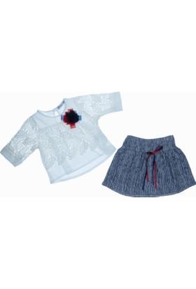 Büşra Kız Çocuk Dantelli Bluz Takım
