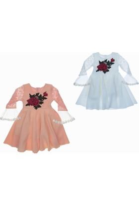 Özgül Kız Çocuk Dantel Detay Elbise