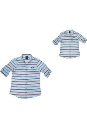 Bukem Erkek Çocuk Renkli Çizgili Gömlek