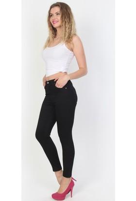 E-Giyimsepeti Siyah Yüksek Bel Kadın Kot Pantolon