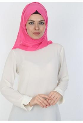 E-Giyimsepeti Düz Pembe Bayan Şal