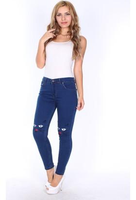 E-Giyimsepeti Koyu Mavi Kedi Kot Pantolon