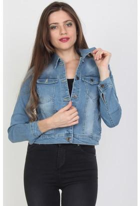 E-Giyimsepeti Mavi Bayan Kot Ceket