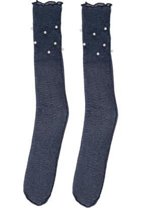 DeFacto İnci Detaylı Tül Çorap