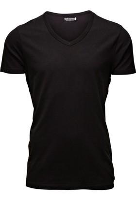 Jack & Jones T-Shirt Basic V-Neck 12059219-BLK