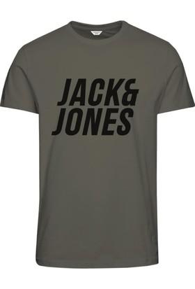 Jack & Jones T-Shirt Jcomole Ss Crew Neck 12133574-OLV
