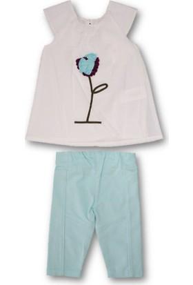 Monna Rosa Çiçekli Capri Kız Çocuk Takım