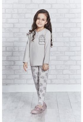 RolyPoly Uzun Kollu Genç Kız Pijama Takımı Bisküvi