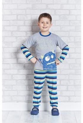 Rolypoly İnterlok Erkek Çocuk Pijama Takımı RP1105