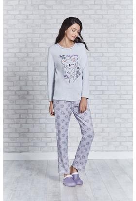 Rolypoly İnterlok Bayan Pijama Takımı RP3156