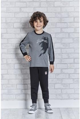 Beşiktaş Lisanslı Erkek Çoçuk Pijama Takımı L9203