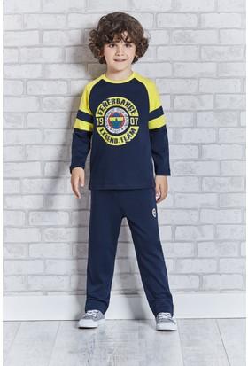 Fenerbahçe Lisanslı Erkek Çocuk Pijama Takımı Lacivert
