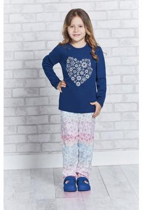 RolyPoly Uzun Kollu Kız Çocuk Pijama Takımı Lacivert