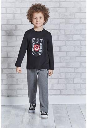 Beşiktaş Lisanslı Erkek Çocuk Pijama Takımı L9201
