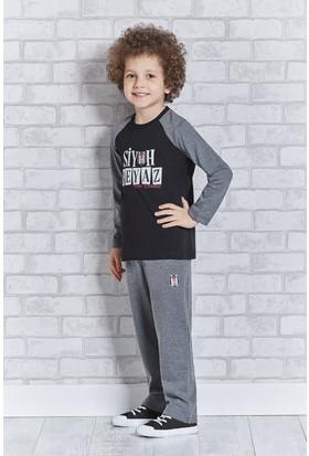 Beşiktaş Lisanslı Erkek Çocuk Pijama Takımı L9202