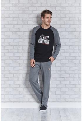 Beşiktaş Lisanslı Erkek Pijama Takımı L9402