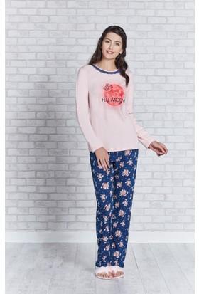 Rolypoly İnterlok Bayan Pijama Takımı RP3159