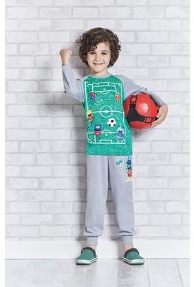 RolyPoly Uzun Kollu Erkek Çocuk Pijama Takımı Yeşil