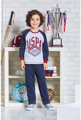Us Polo Assn Lisanslı Erkek Çocuk Pijama Takımı Gri