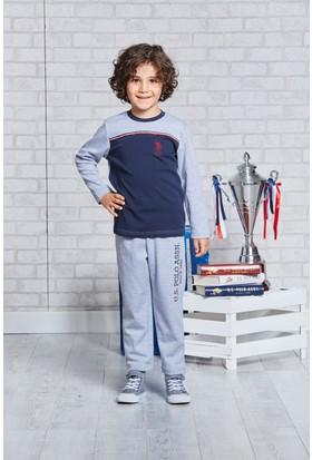 Us Polo Assn Lisanslı Erkek Çocuk Pijama Takımı Koyu Gri