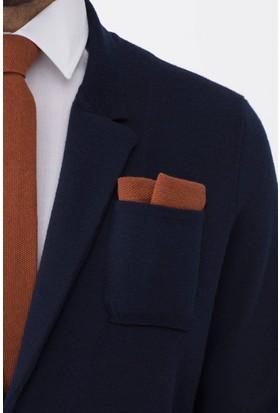 Hemington Terracotta Örgü Ceket Mendili
