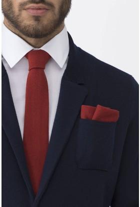 Hemington Açık Kırmızı Örgü Ceket Mendili