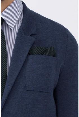 Hemington İpek Yün Koyu Yeşil Örgü Ceket Mendili