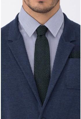 Hemington Koyu Yeşil İpek Örgü Kravat
