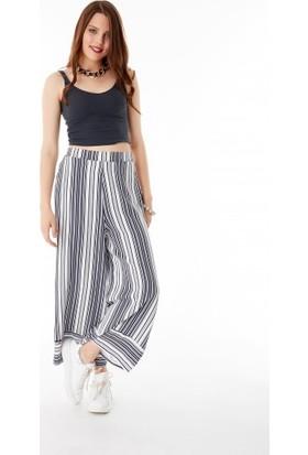 Bsl Fashion Çizgili Pantolon 9442