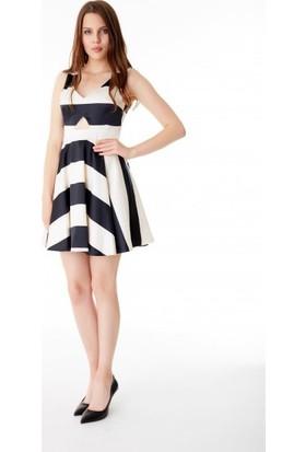 Bsl Fashion Ekru Elbise 9403