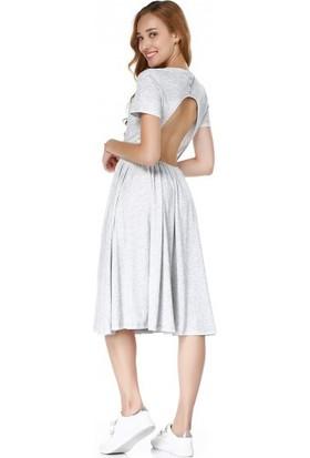 Bsl Fashion Gri Elbise 9457