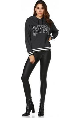 Bsl Fashion Siyah Sweatshirt 9508