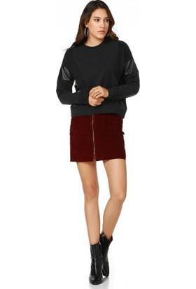 Bsl Fashion Siyah Sweatshirt 9513