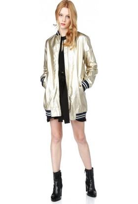 Bsl Fashion Gold Ceket 10706