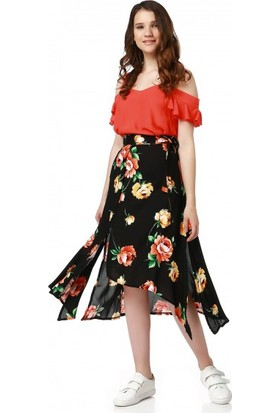 Bsl Fashion Siyah Etek 9355