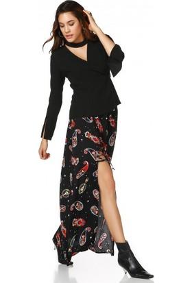 Bsl Fashion Siyah Etek 9482