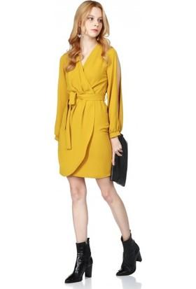 Bsl Fashion Hardal Elbise 9575