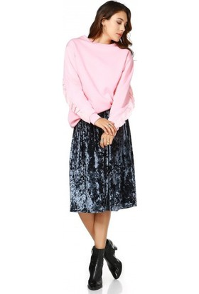 Bsl Fashion Antrasit Etek 9519