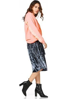 Bsl Fashion Pembe Sweatshirt 9545