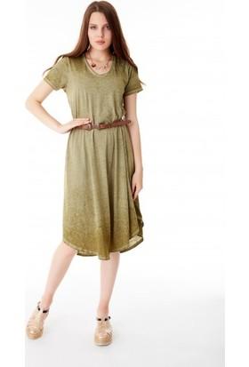 Bsl Fashion Haki Elbise 9422