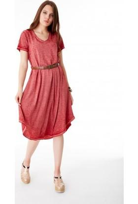 Bsl Fashion Bordo Elbise 9422
