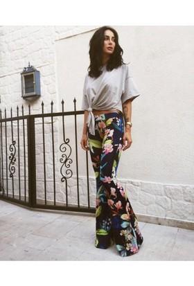 Bsl Fashion Mürdüm Pantolon 9427