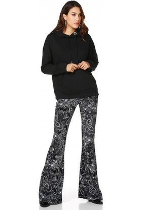 Bsl Fashion Siyah Sweatshirt 9549